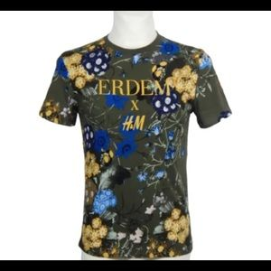 ERDEM X H&M Floral Short Sleeve Logo Tee XS